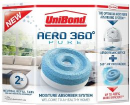 Unibond Aero 360 Moisture Trap Absorber Refills Pack of 2 for De Humidifier